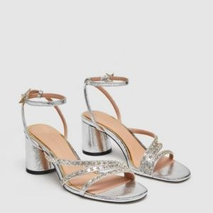 Zara High Heel Sandals with Star Details